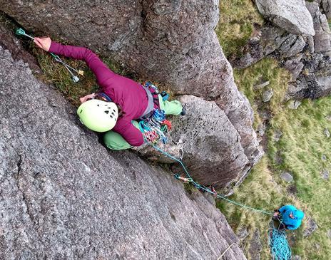 Rock Climbing in Langdale near Ambleside