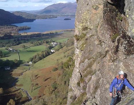 Rock Climbing and Abseiling in Borrowdale, Keswick