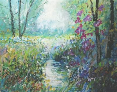 Impressionist Sketching : light effetcs in oil pastel with Roy Simmons