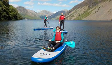 Paddleboarding with West Lakes Adventure