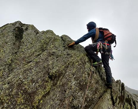 Scrambling near Coniston with More Than Mountains