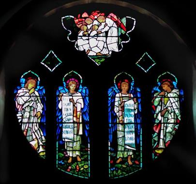 Stained glass window at St. Martin's Church Brampton