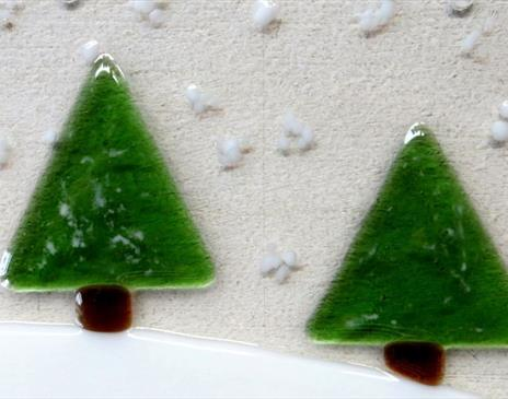 Fused Glass Christmas Decorations with Roxanne Denny