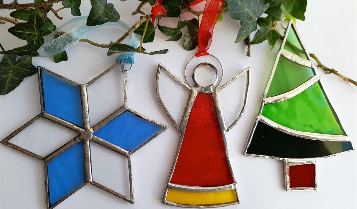 Foiled Glass Christmas Decorations