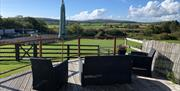 Wych Elm Bungalow - Outdoor Seating Area with beautiful views