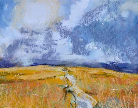 Lakeland Landscape in Gouache and Mixed Media at Cowshed Creative