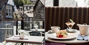 Balcony and adfternoon tea at Zeffirellis