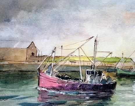 Painting Boats in the Harbour with Roy Simmons