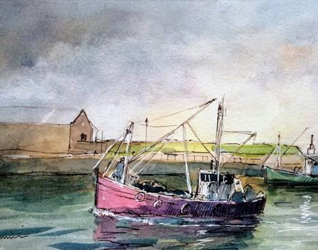 Intro to Pen and Wah - Painting Boats on the Water with Roy Simmons