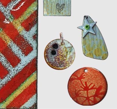 Enamel Jewellery creative workshop at Cowshed Creative