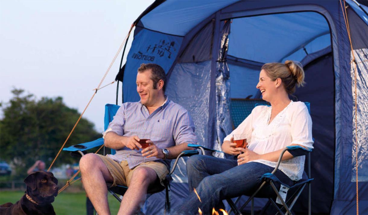 Camping at Holgates Holiday Park, Silverdale