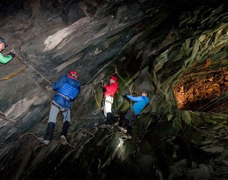 Climb in the Mine at Honister Slate Mine
