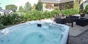 All cottages have their own private hot tub