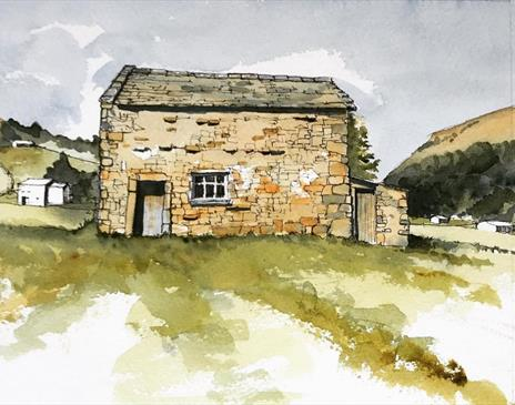 Buildings in the Landscape' using Line & Wash with John Harrison