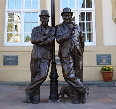 Laurel & Hardy Statue in Ulverston