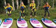 Paddleboarding with Graythwaite Adventure