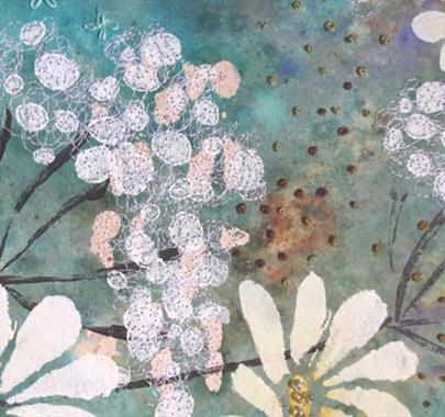 Paint Print Stitch - Botanics with Kay Leech