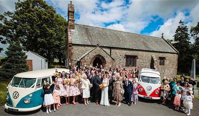 Rainbow Camper Van Hire - Wedding transport