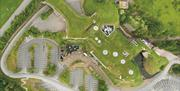 Aerial view of The Rheged Centre