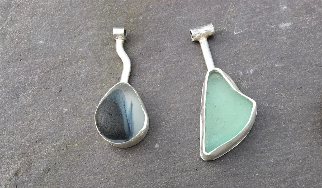 Seaglass Jewellery workshop at Cowshed Creative