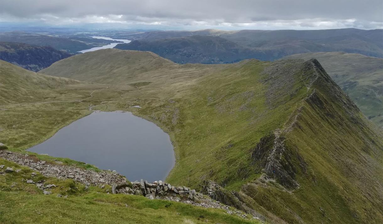 Helvellyn via Striding Edge, guided scramble in the Lake District, with More Than Mountains