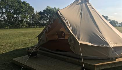 Beautiful bell tent, 'Daisy'