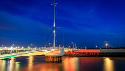 Pont y Ddraig Harbour Bridge