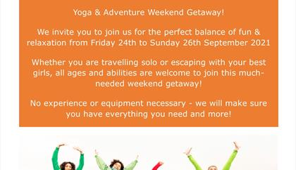 Yoga & Adventure Getaway Weekend