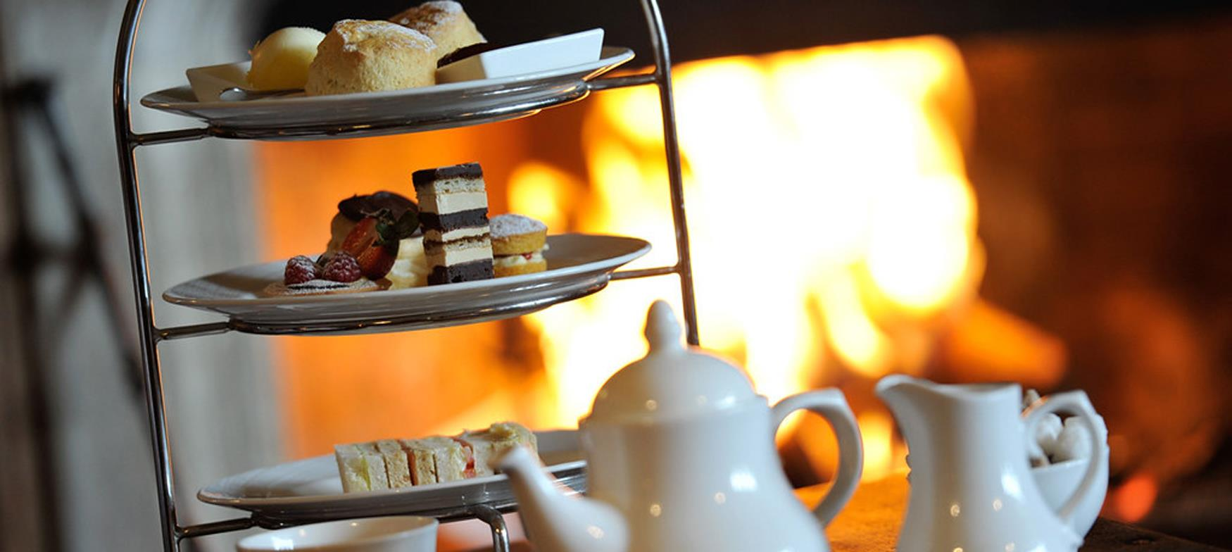 An array of cakes and scones