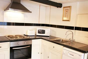 One of the kitchens in one of Sheephouse Manor Cottages