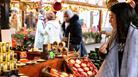 Food samples at Bristol Christmas Market
