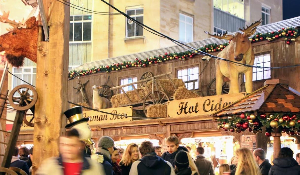 Stalls at Bristol Christmas Market