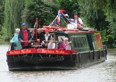 Canal boat on the Kennet and Avon canal