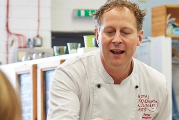 Peter Demonstrating at Vaughan's Cookery School