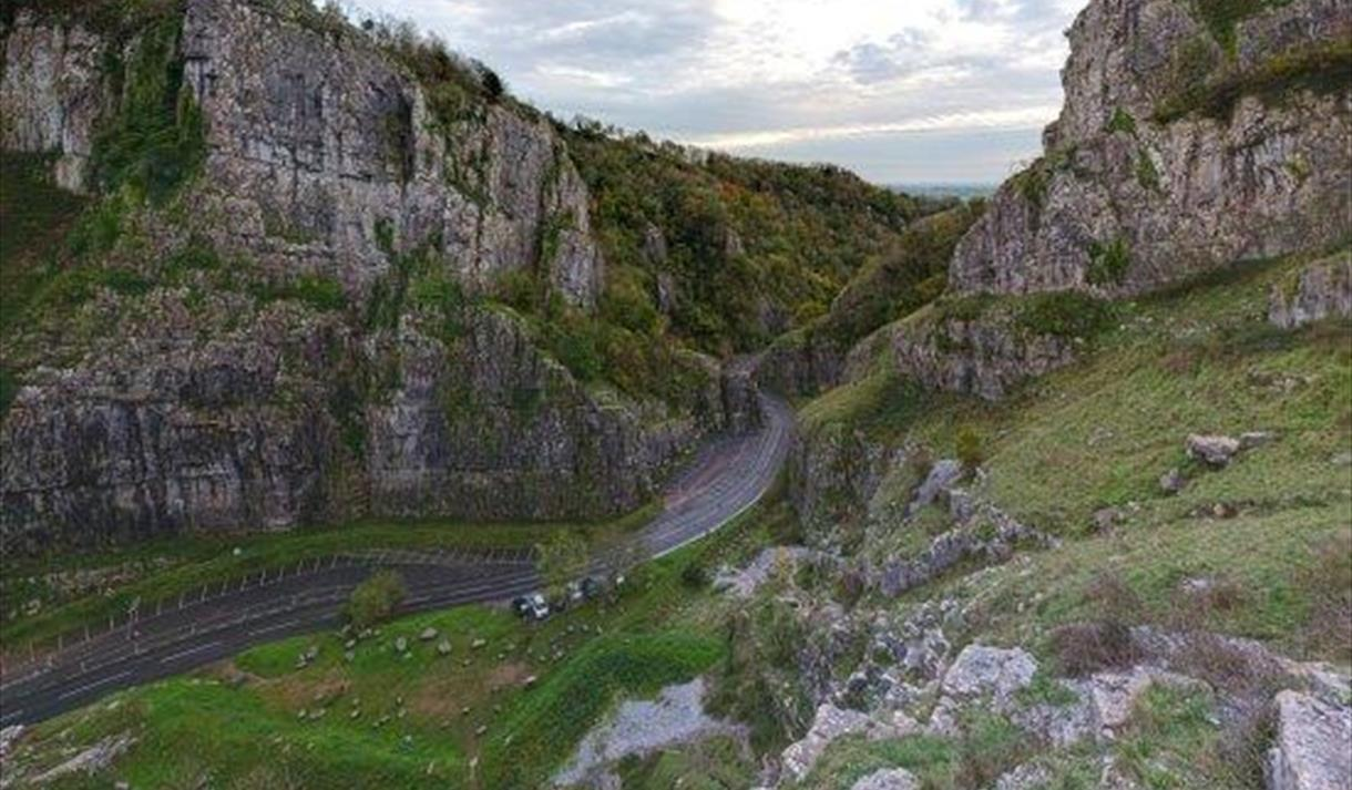 Cheddar Gorge North Somerset caves cliffs