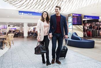 Departures lounge at Bristol Airport