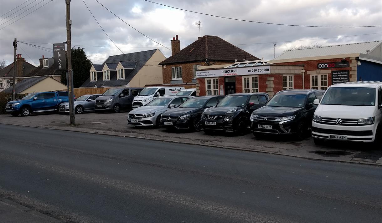 Practical Car & Motorhome Rental - front of office