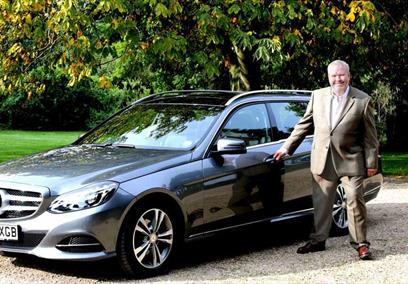 Mike with his tour car