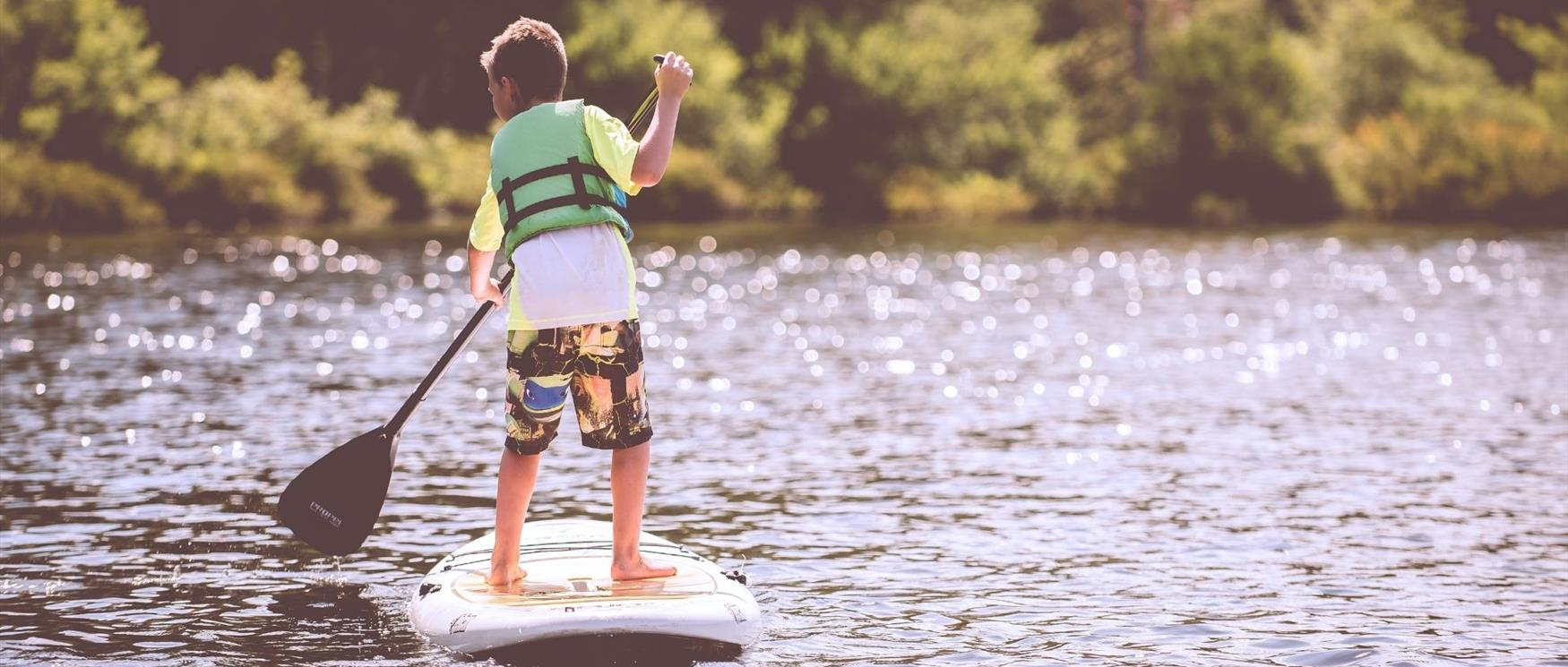 Stand-up paddle boarding in Hampshire