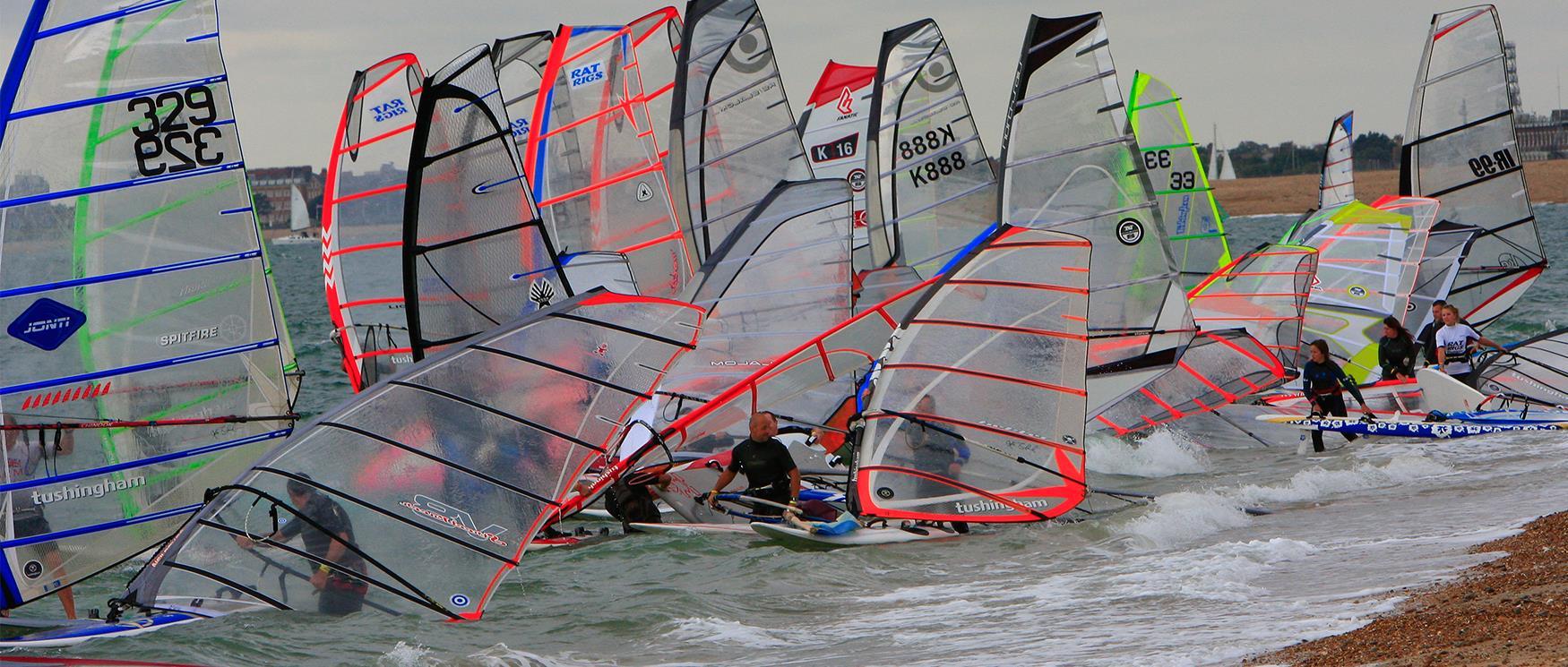 Windsurfing at Hayling Island Beach