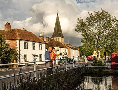 The town of Stockbridge