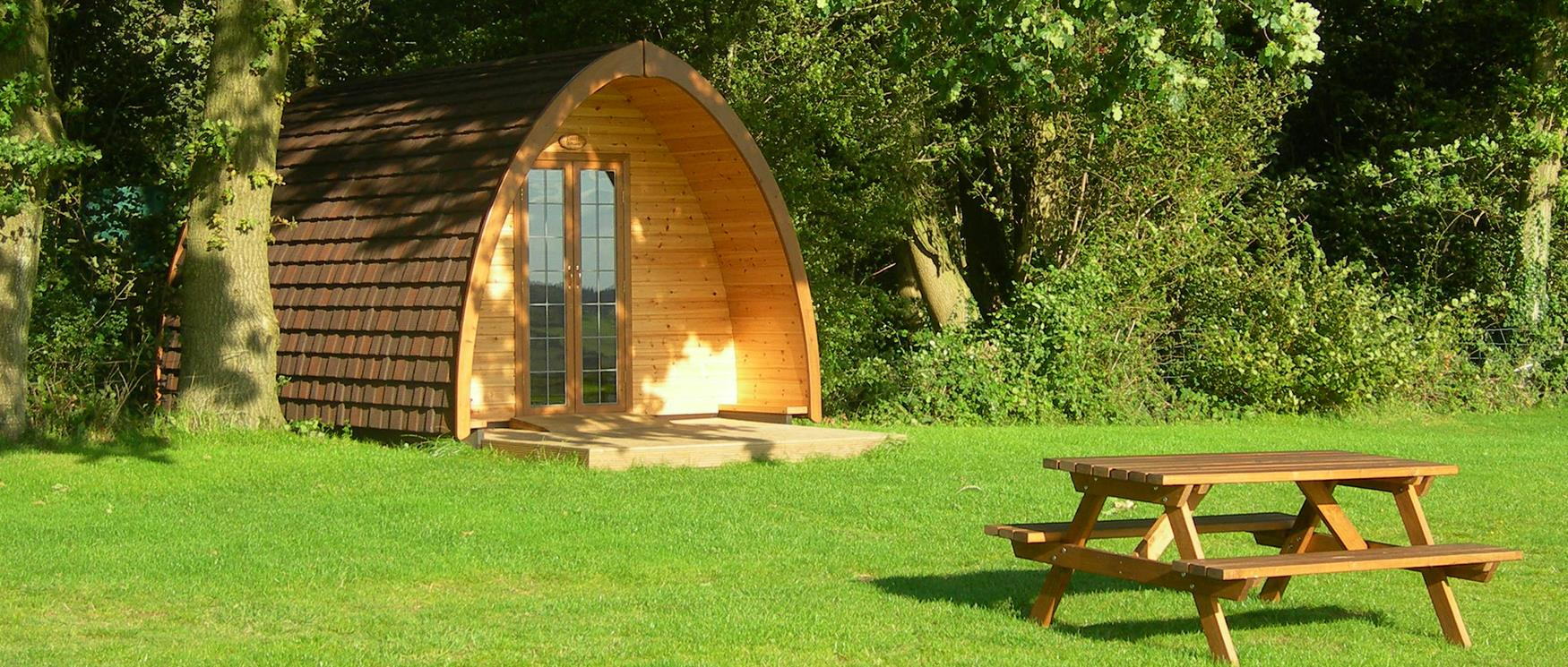 Two Hoots Glamping Pods in Hampshire