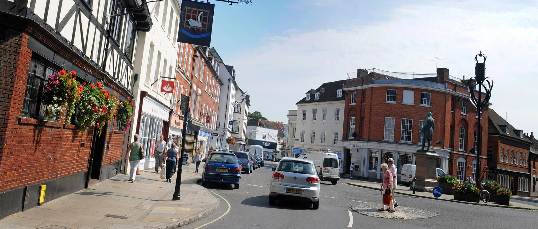Romsey Town Centre in the Test Valley