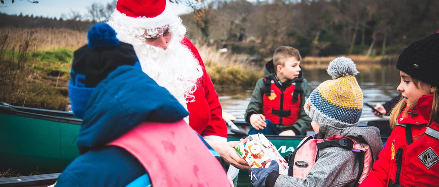New Forest Activities Canoeing with Santa in the New Forest