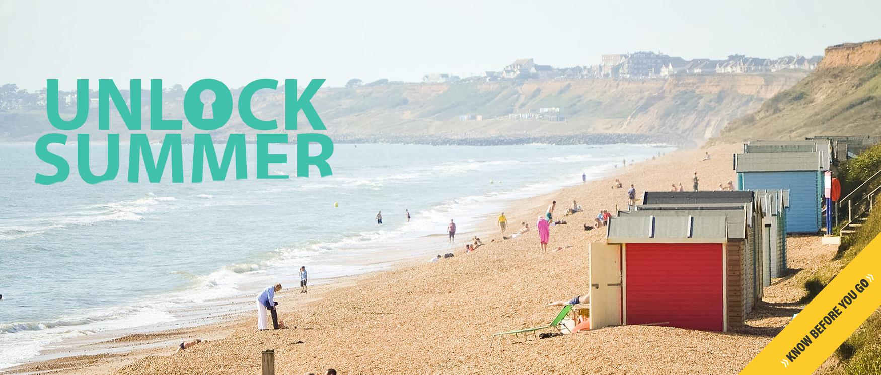 Unlock Summer in Hampshire - Milford on Sea Beach