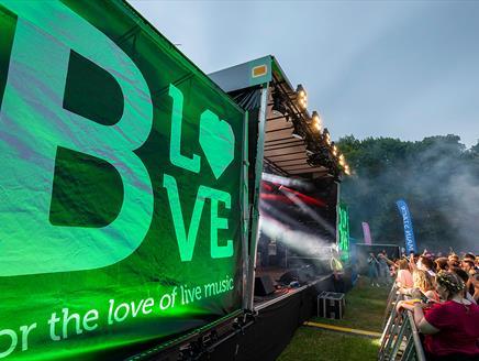 B LOVE at Basingstoke War Memorial Park