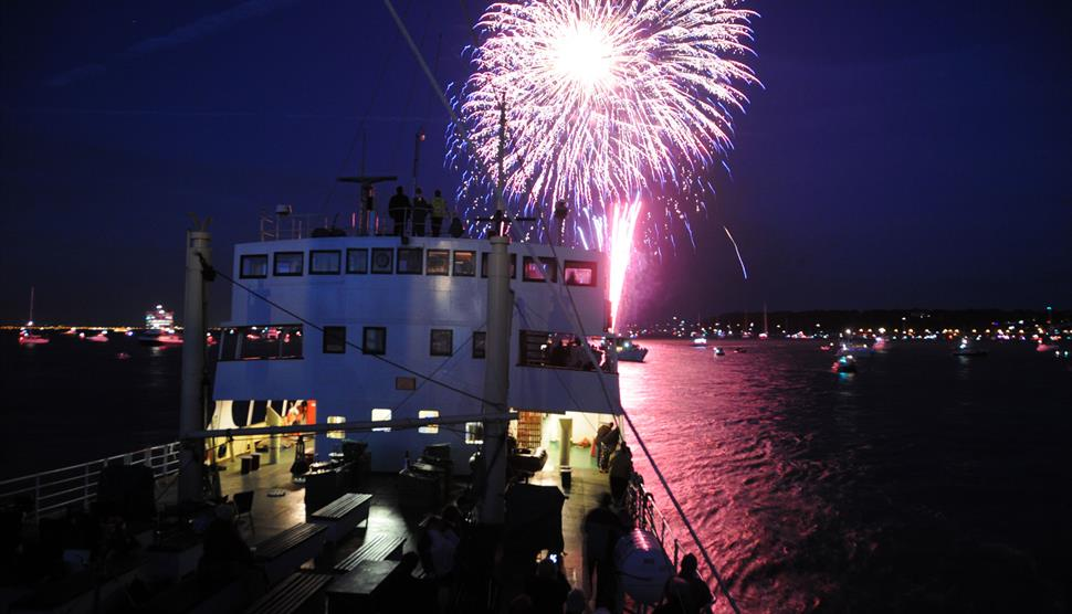 Steamship Shieldhall Cowes Fireworks Cruise with Shieldhall Stompers
