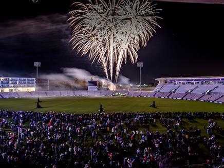 Fireworks at The Ageas Bowl, Southampton