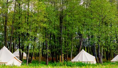 Kymani Glamping tents at The Grange, Hampshire