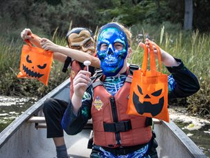 Canoe Halloween Candy Hunt with New Forest Activities